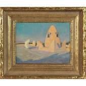 "757: Jules Louis Tavernier, ""Arabic Scene"", c.1910; oil"