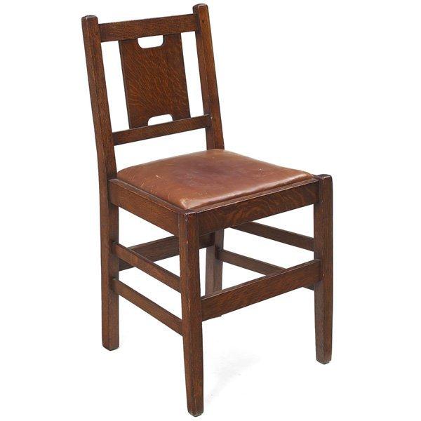 107: Gustav Stickley desk chair, #398