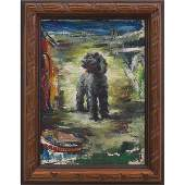 666: Louise Woodroofe, Circus Dog, c. 1940; oil