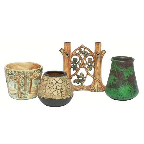 1209: Weller Forest vases, three