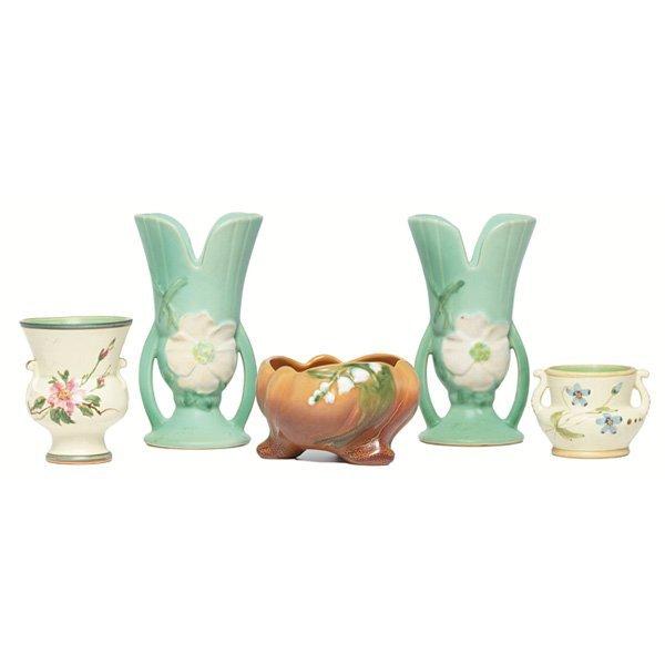 1212: Weller vases,  four