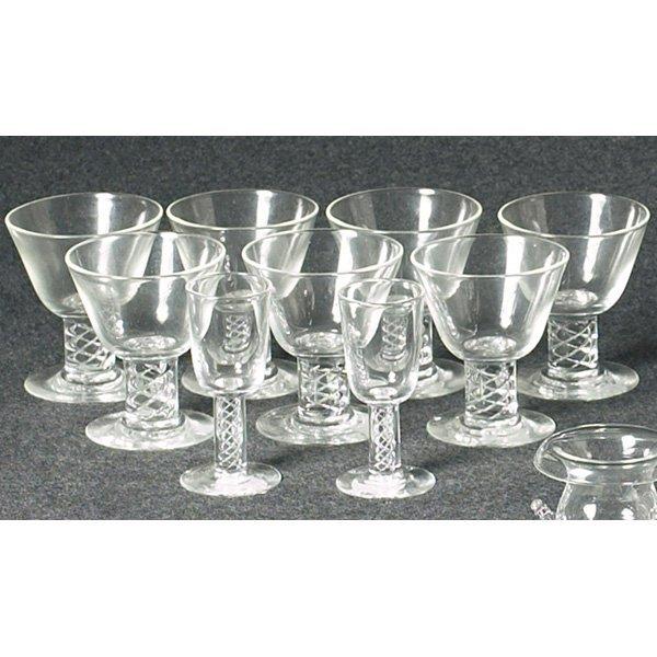 1217: Steuben glasses, set of seven,