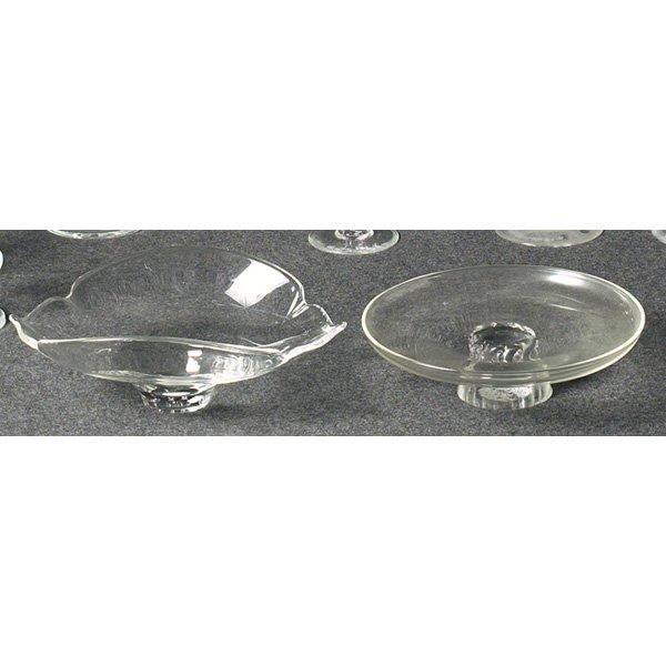 1222: Steuben bowl, w/Steuben compote