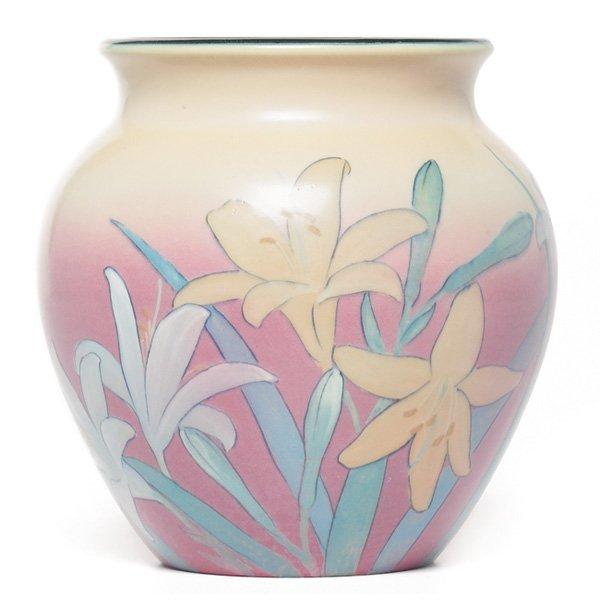 1843: Rookwood vase, bulbous form, Kataro Shirayamadani