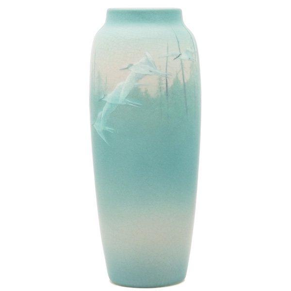 1844: Rookwood vase, nicely fired Vellum glaze, Shiraya