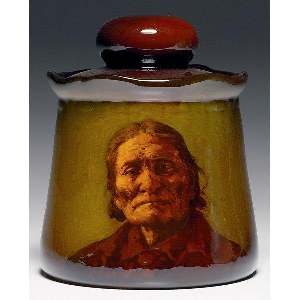 1846: Rookwood humidor, Standard glaze Edith Felton