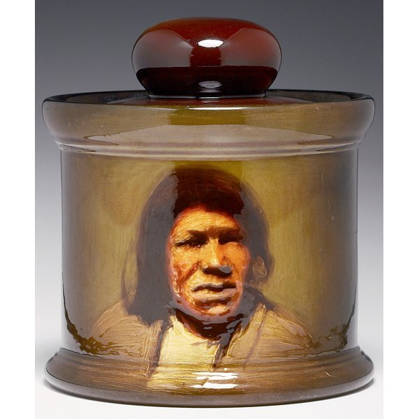 1848: Rookwood humidor, Standard glaze Sturgis Laurence