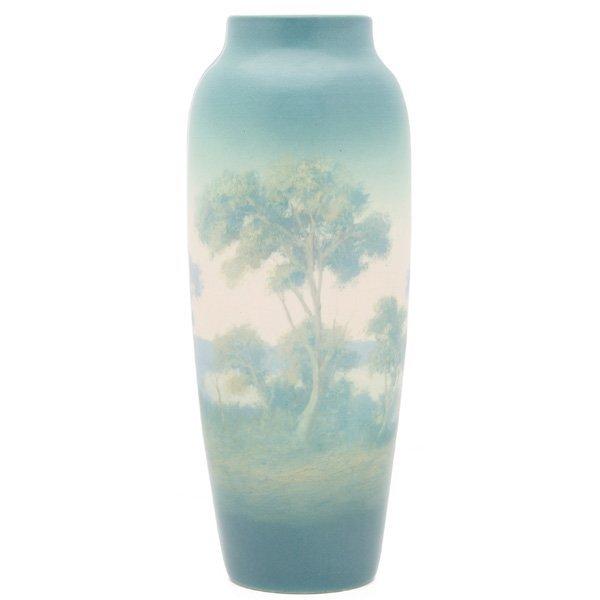 1850: Rookwood vase, nice Vellum glaze E.T. Hurley