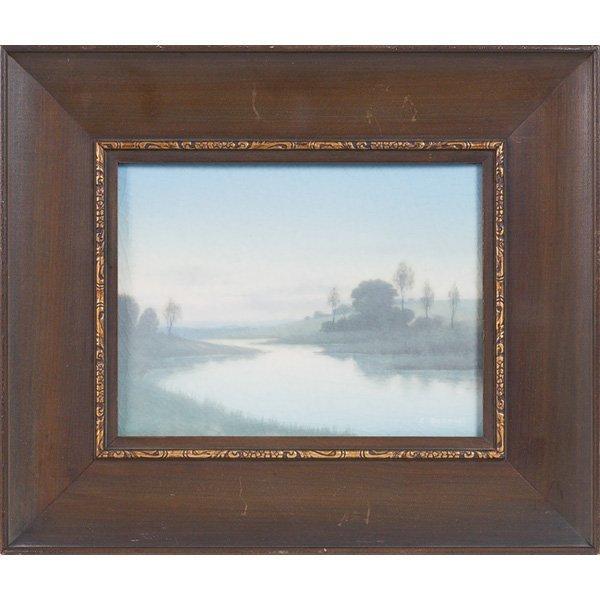 1851: Rookwood plaque, Vellum glaze Carl Schmidt