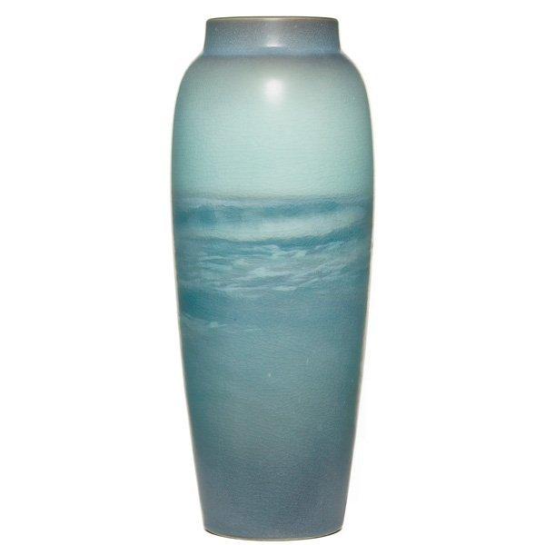 1861: Rookwood vase,  vellum glaze, E.T. Hurley in 1909