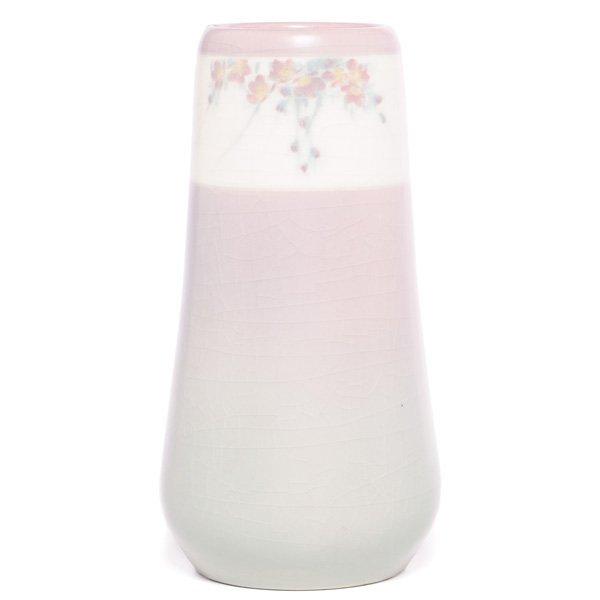 1865: Rookwood vase, Vellum glaze  E.T. Hurley s
