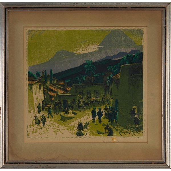 2: Gustave Baumann woodblock,