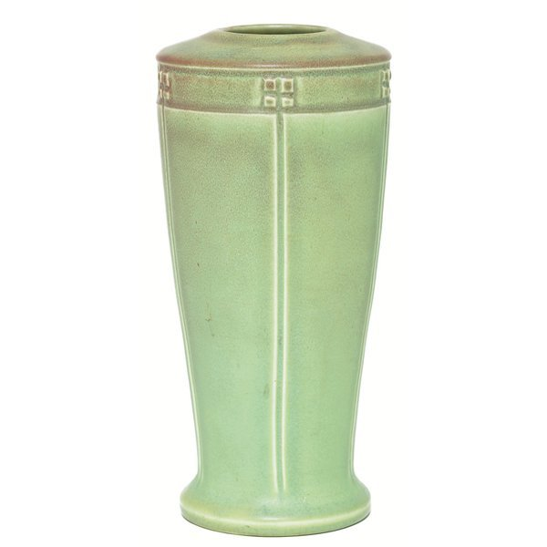 5: Rookwood vase, geometric design