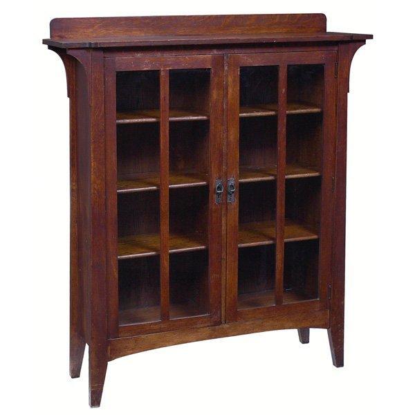 7: Limbert bookcase, #358, two door form