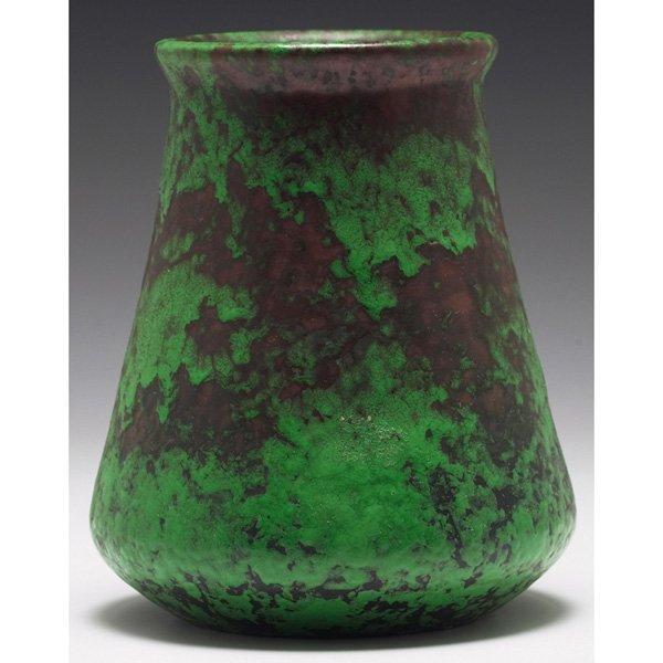 9: Weller Coppertone vase, flaring form