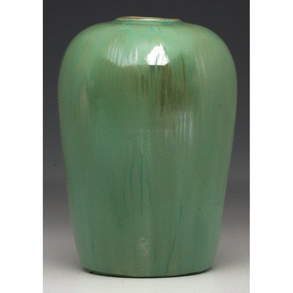 13: Fulper vase, large tapering form