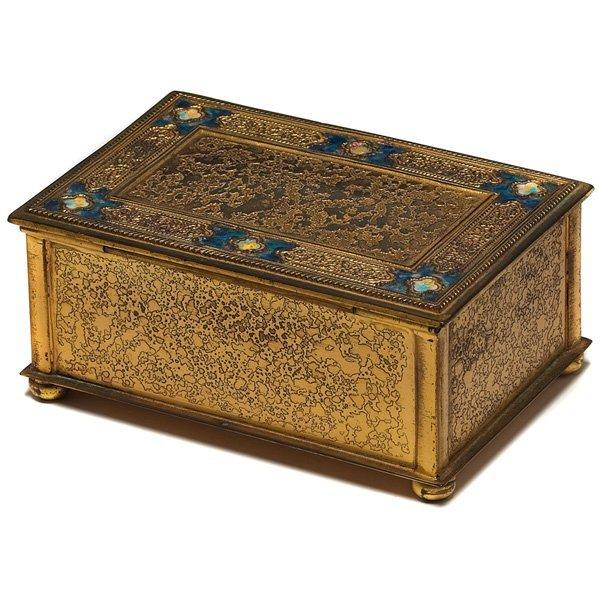 534: Tiffany Furnaces box, bronze