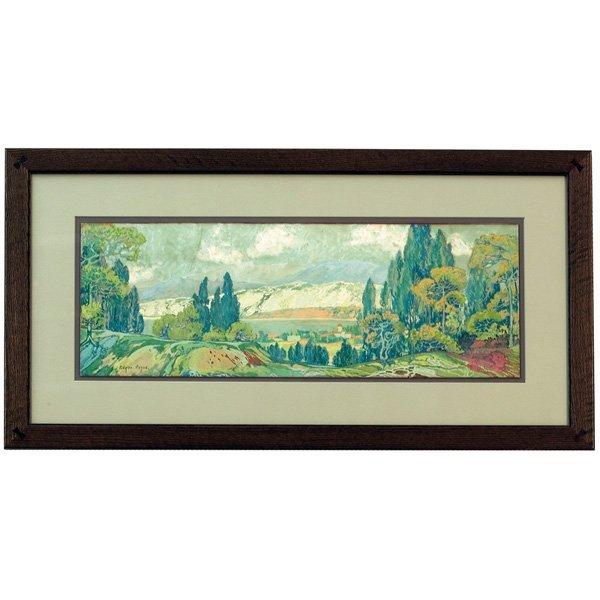 633: Edgar Alwin Payne, California Landscape, gouache