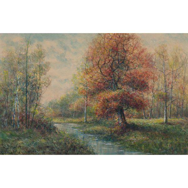 647: Raphael Senseman, Landscape, watercolor