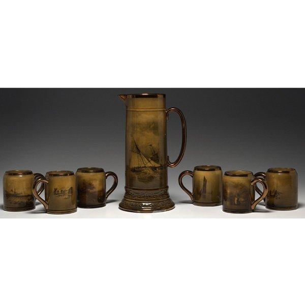 1204: Royal Vistas Ware cider set, England