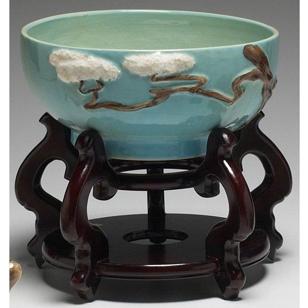 1206: Roseville Ming Tree bowl
