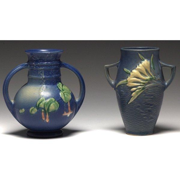1207: Roseville Fuschia vases
