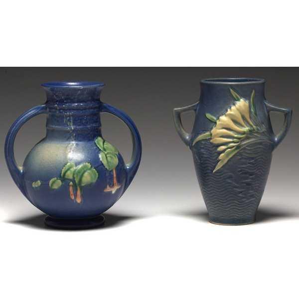 1207 Roseville Fuschia Vases