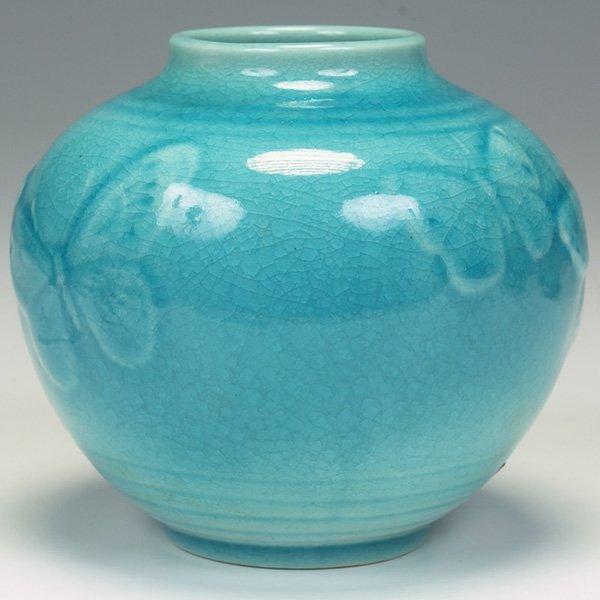 1211: Rookwood vase, butterflies