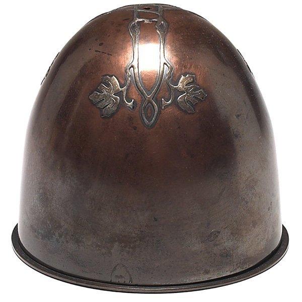 1220: Heintz string holder, sterling on bronze