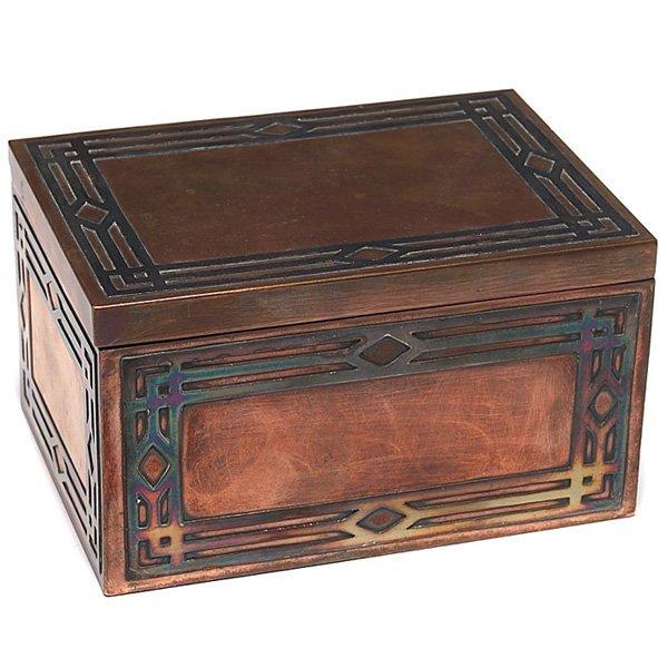1369: Silver Crest bronze box