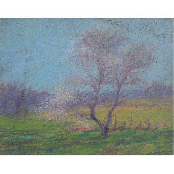 49: E.T. Hurley, Landscape, pastel on paper