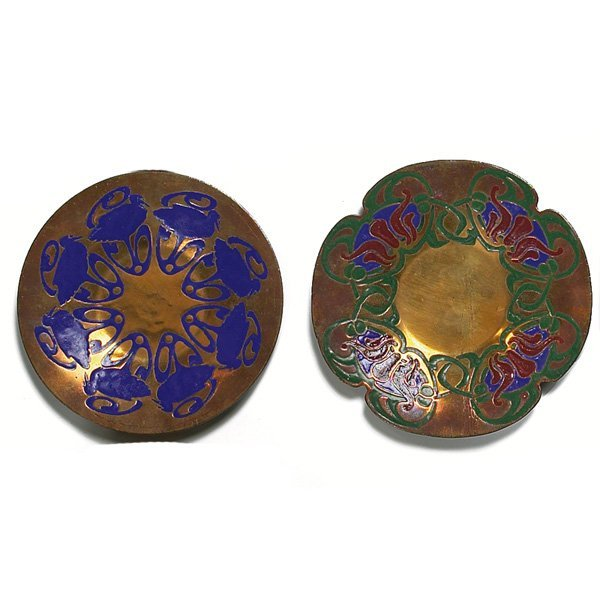 1200: The Art Crafts Shop trays, two, bronze
