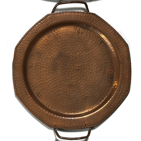 1215: Roycroft tray, octagonal form