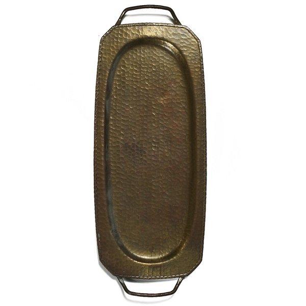 1217: Roycroft tray, rectangular form