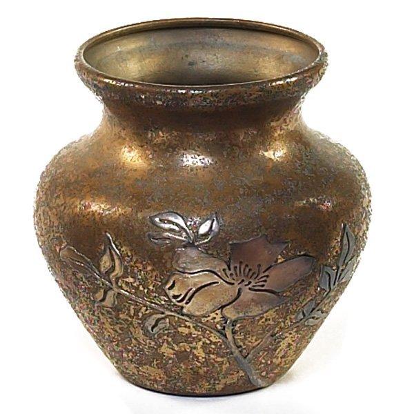 1218: Heintzvase, sterling on bronze