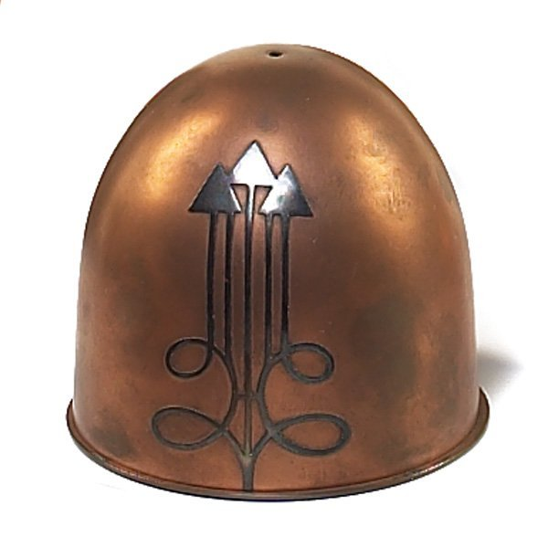 1219: Heintz string holder, sterling on bronze