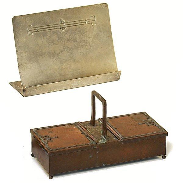 1223: Heintz sheet music stand, w/ Heintz box