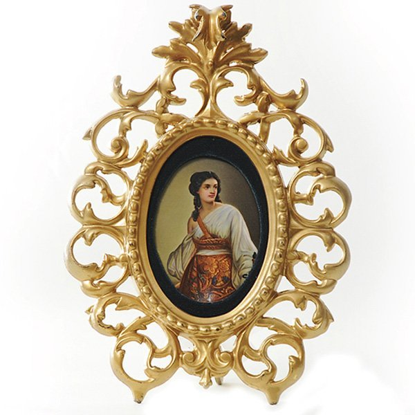 4: German Porcelain Plaque, ca 1900