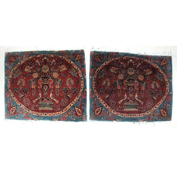 15: Persian Kerman rugs, Pair