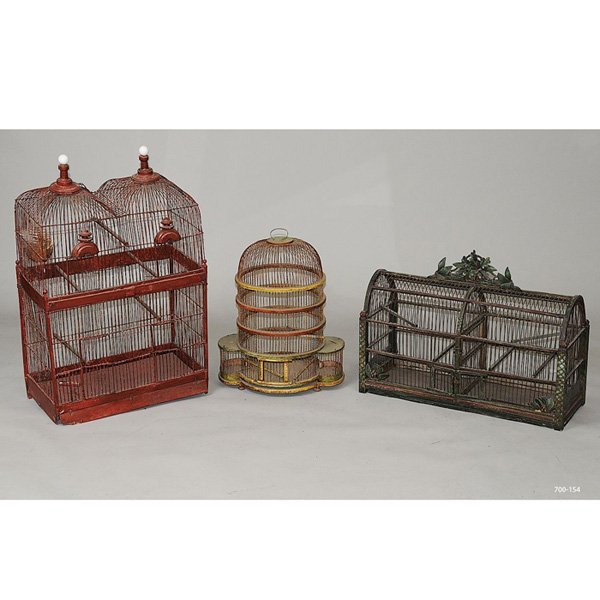 17: Victorian Bird Cages, set of three