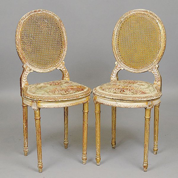 20: Pair of Louis XVI Ballroom Chairs.