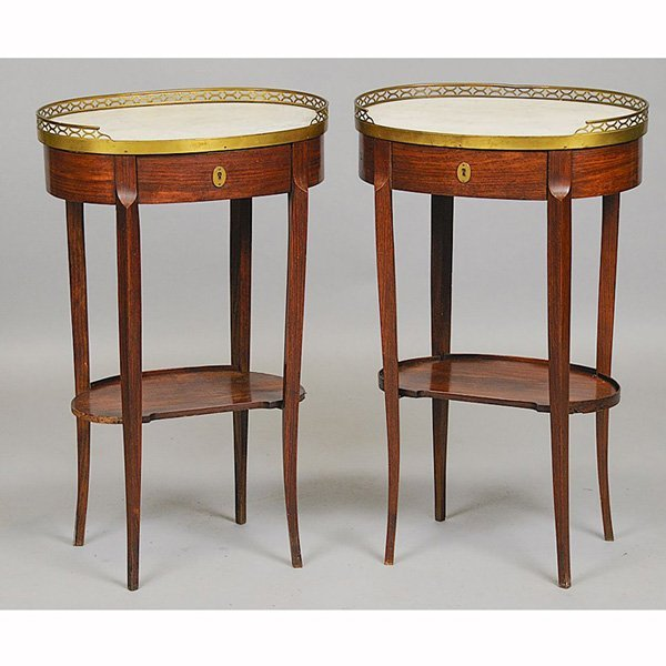 21: Pair of Louis XVI Fruitwood side tables