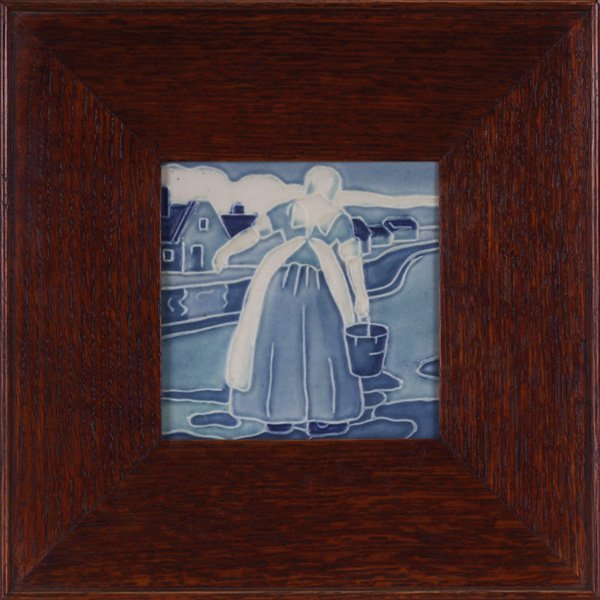 3: Rookwood trivet, Dutch scene