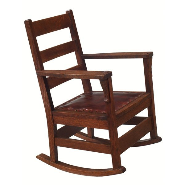 8: Arts & Crafts child's rocker