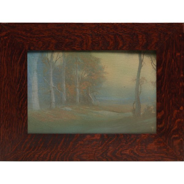 11: Rookwood plaque, Vellum glaze, Fred Rothenbusch