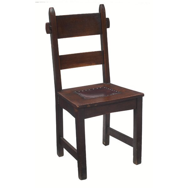 14: Gustav Stickley side chair, #1291