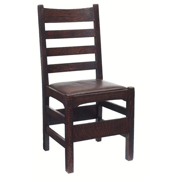 16: Gustav Stickley chair, #352