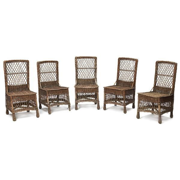2: Arts & Crafts side chairs, set of five