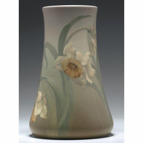 1203: Rookwood vase, nice Vellum glaze Fred Rothenbusch