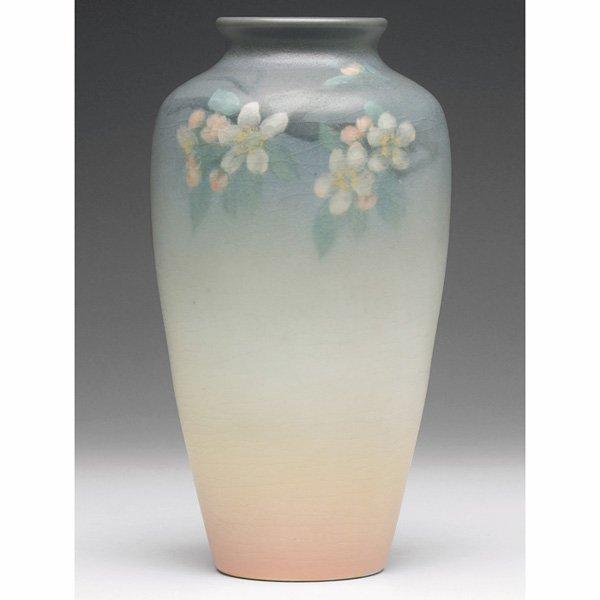 1204: Rookwood vase, Vellum glaze, E.T. Hurley